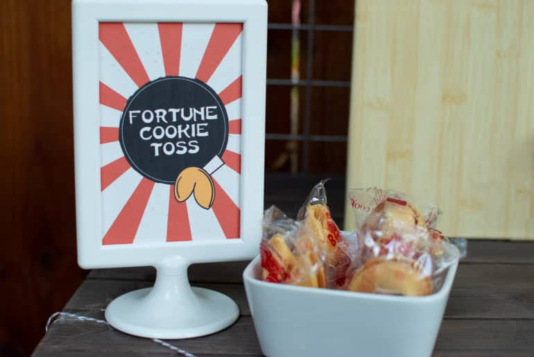 DIY Fortune Cookie Toss Game
