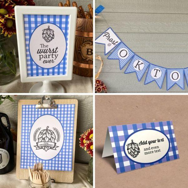 Oktoberfest party printable set