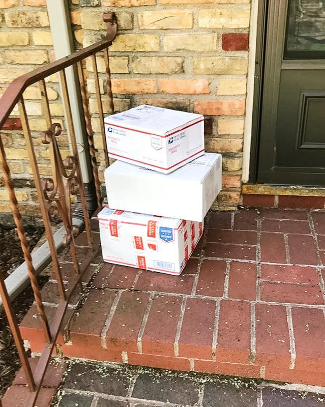 gifts on door step