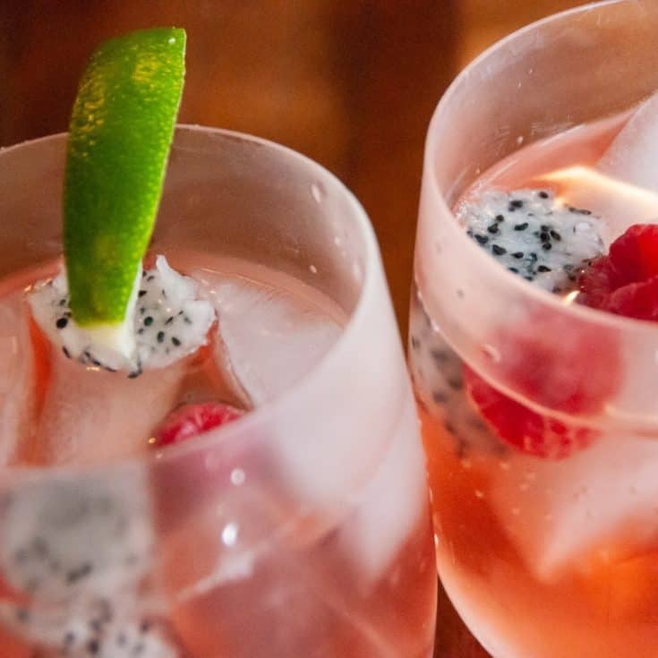 Dragonfruit and Raspberry Rosé Sangria
