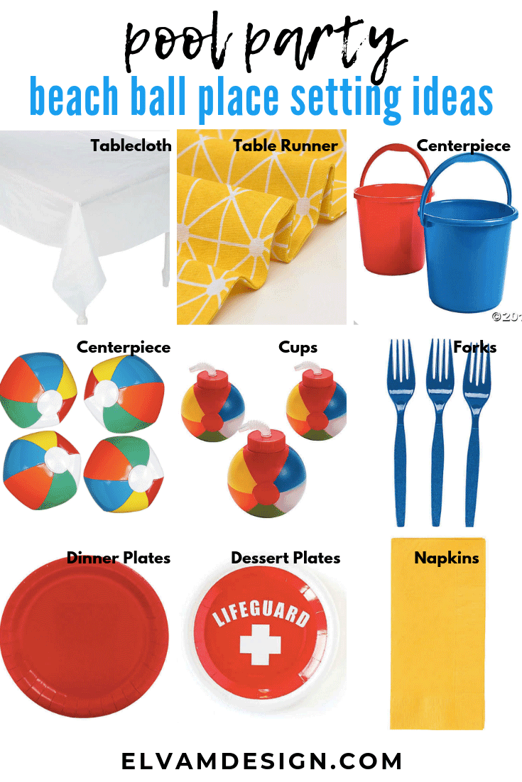Beach Ball table setting ideas