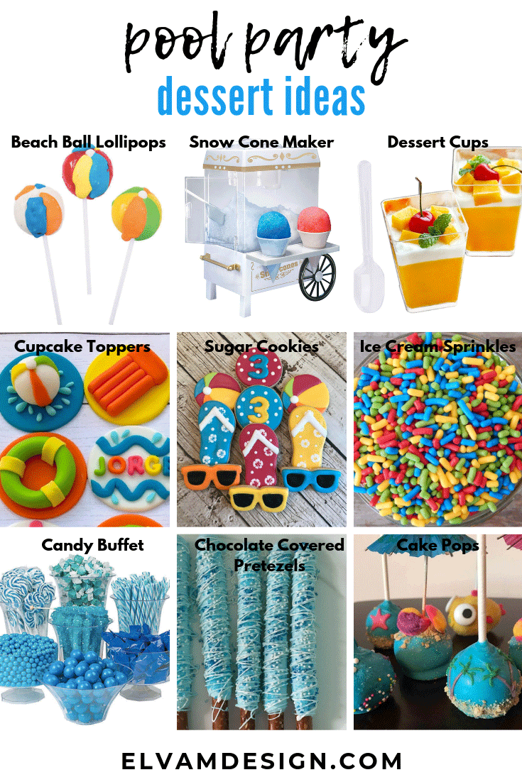 pool party dessert ideas