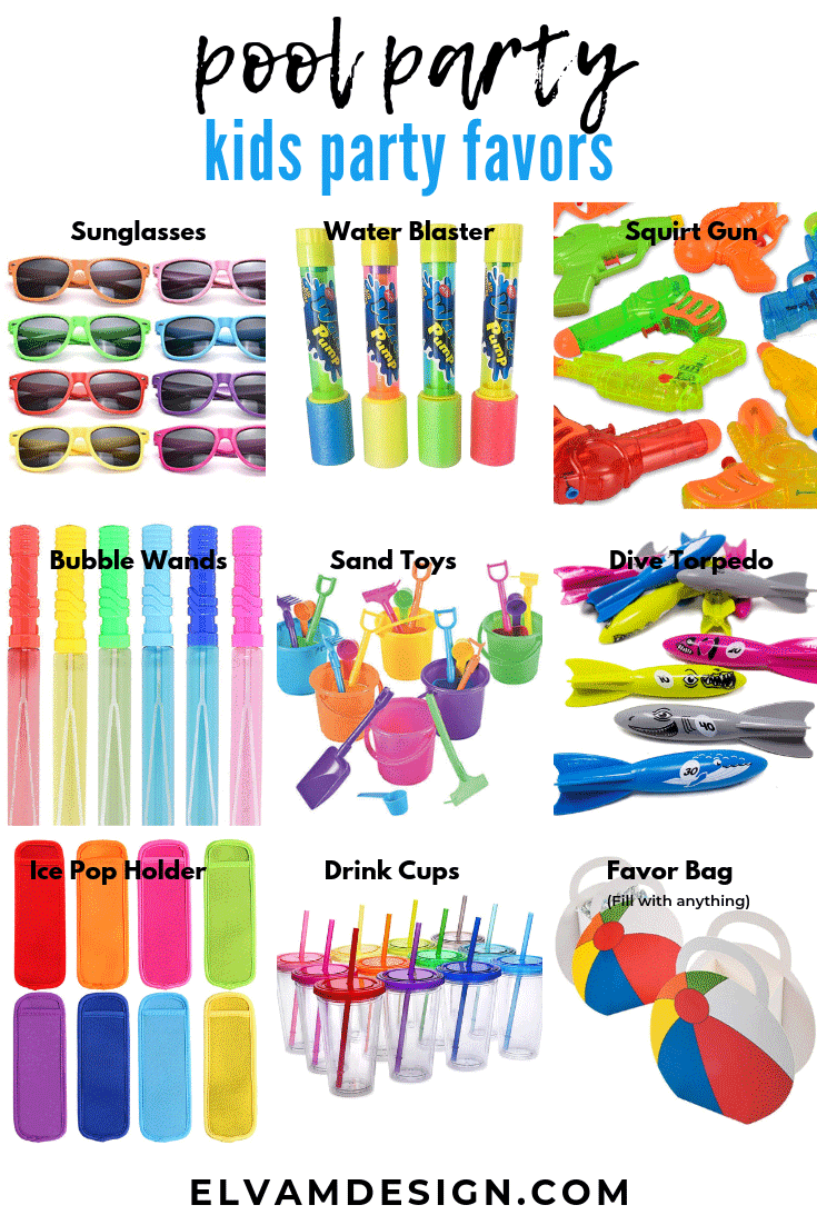 Pool Party Favor Ideas for Kids