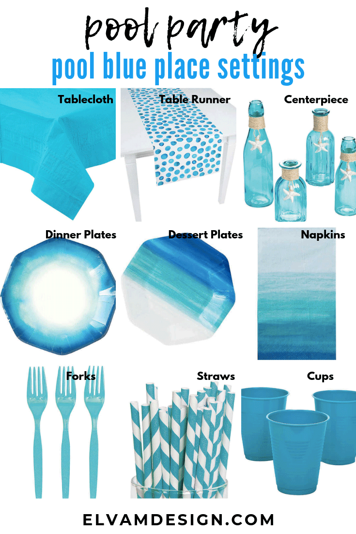 Pool blue Table setting ideas