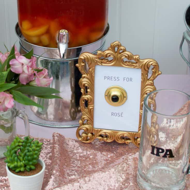 Press for Rosé Doorbell Sign