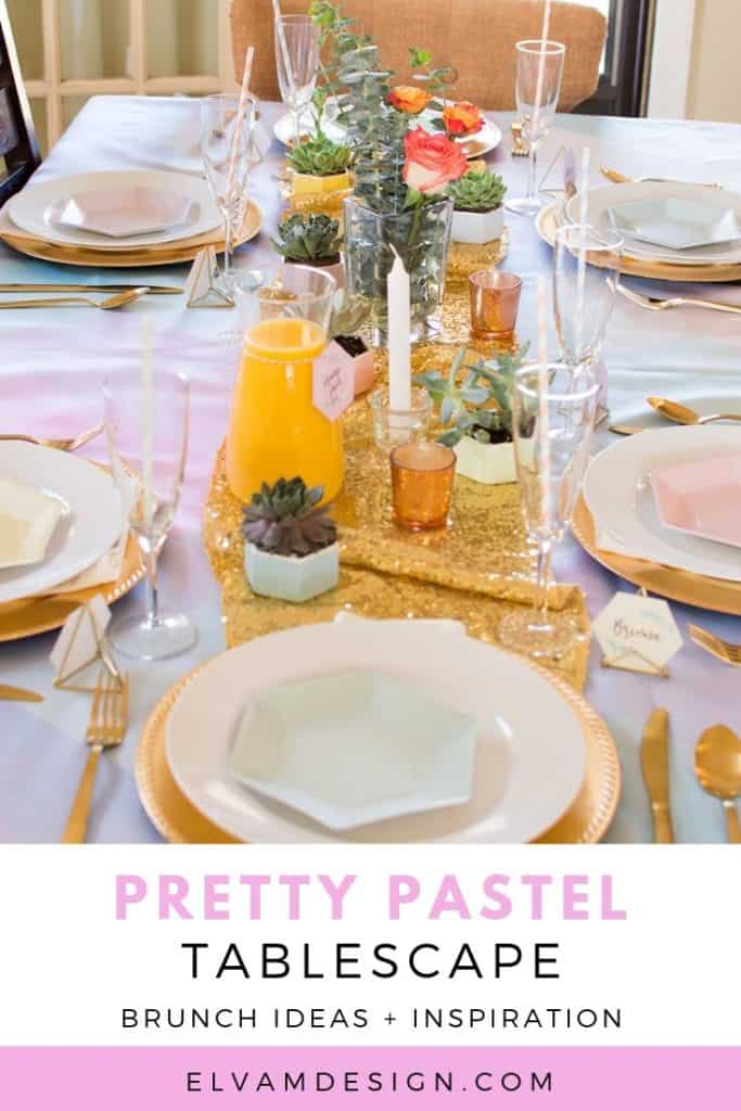 Pretty Brunch Tablescape Ideas