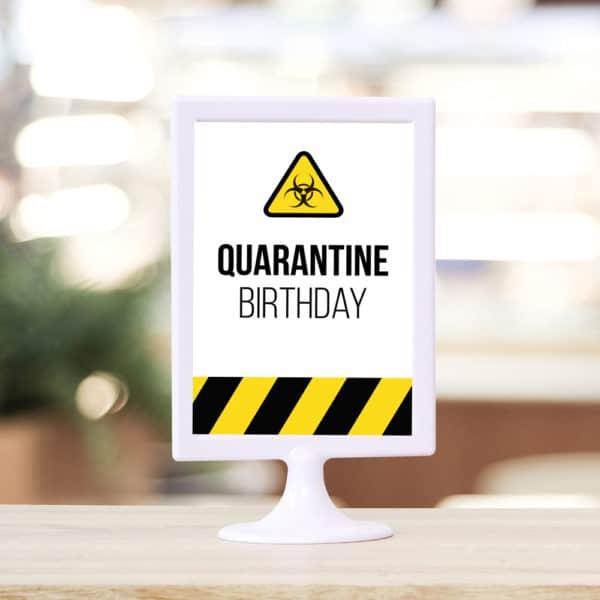 quarantine birthday party sign