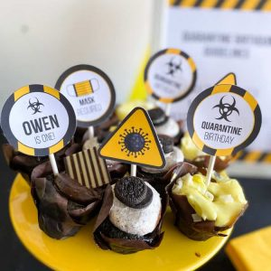 quarantine cupcake toppers