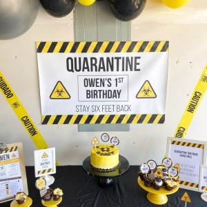 Quarantine Party Backdrop