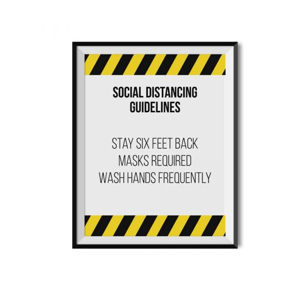 Social Distancing Guidelines Sign