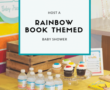 Rainbow Book Themed Baby Shower