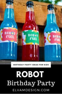 Robot Birthday Printables