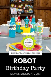 Robot Birthday Party Table