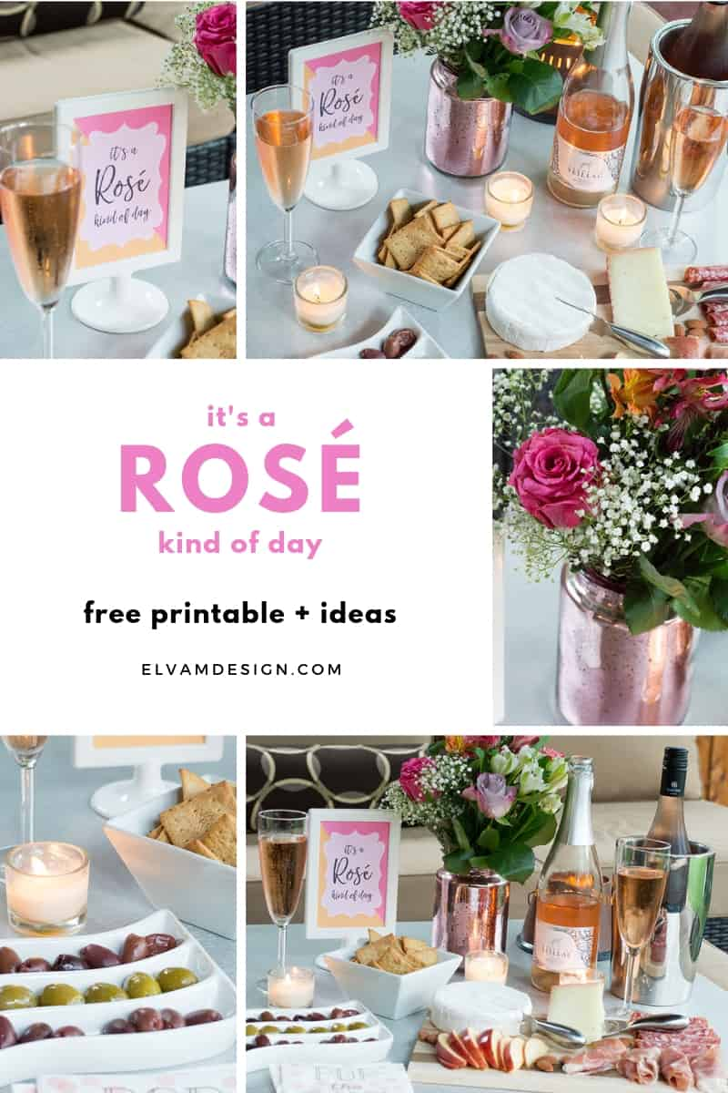 Rosé wine party ideas