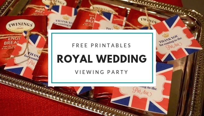 Free Royal Wedding Viewing Party Printables from Elva M Design