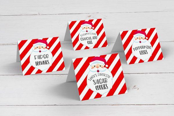 Santa Christmas Tent Cards