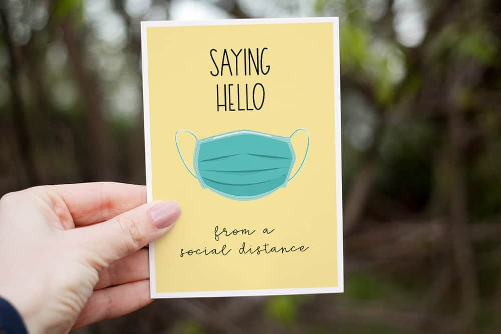 Social Distancing Greeting Cards