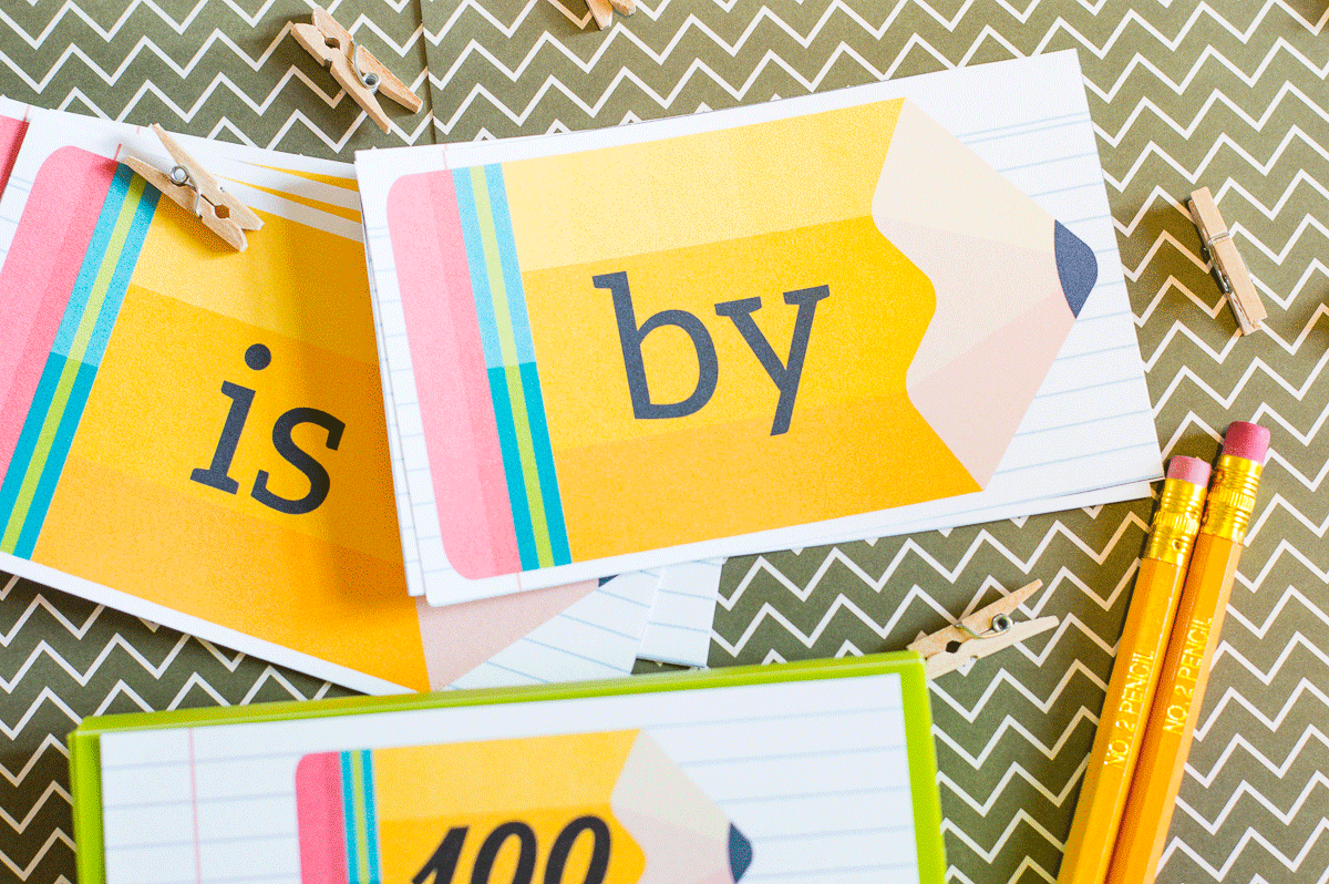 Sight Words Index Cards