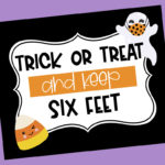 Social Distancing Halloween Trick-or-Treat Station