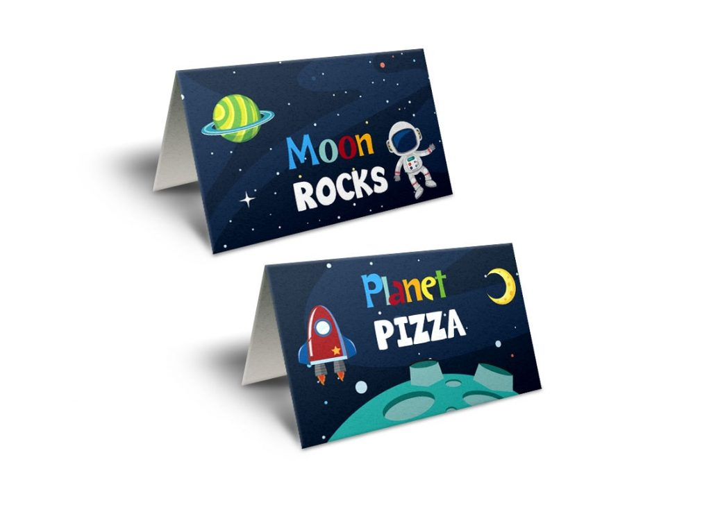 space tent cards