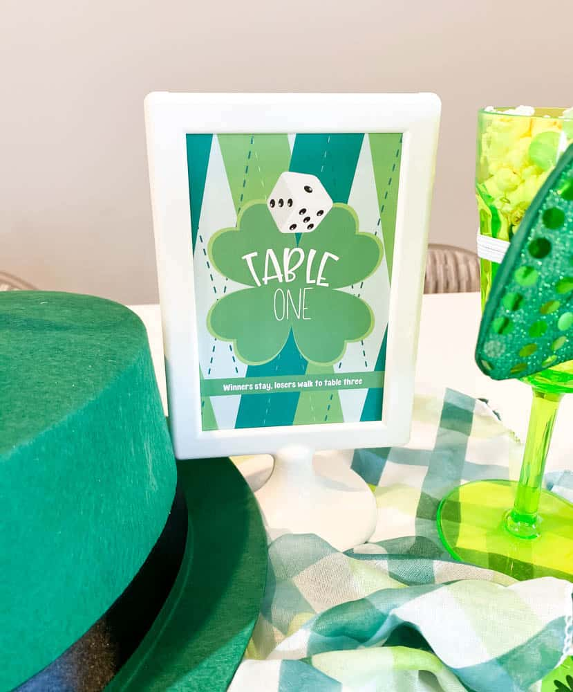 St. Patrick's Day Table Signs