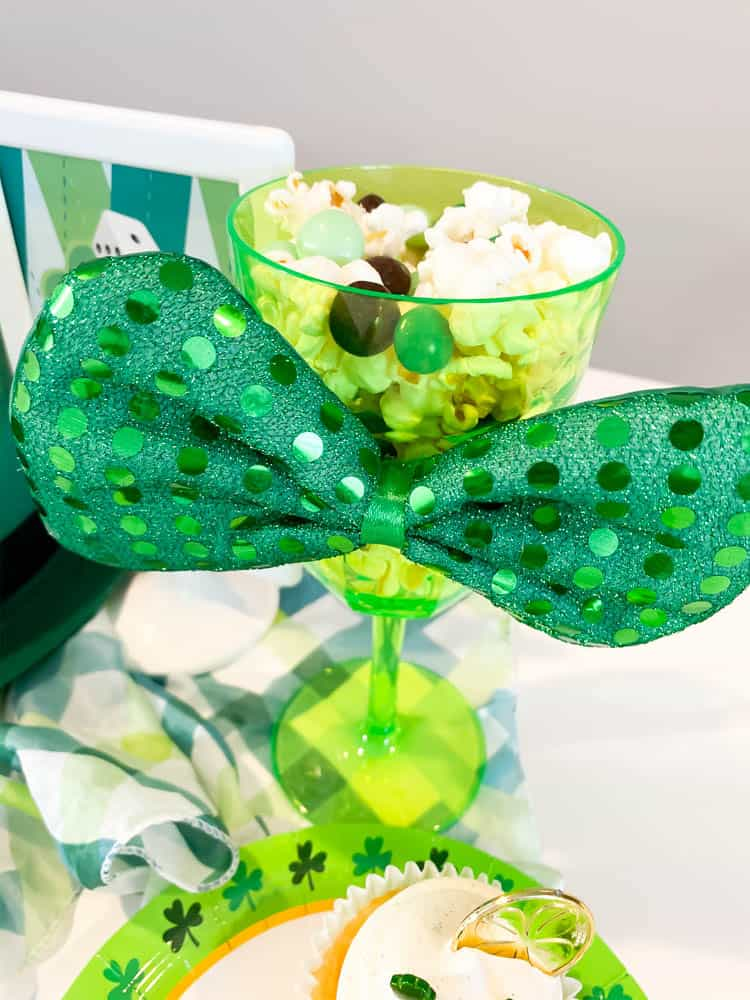 Bunco table snacks for St. Patrick's Day
