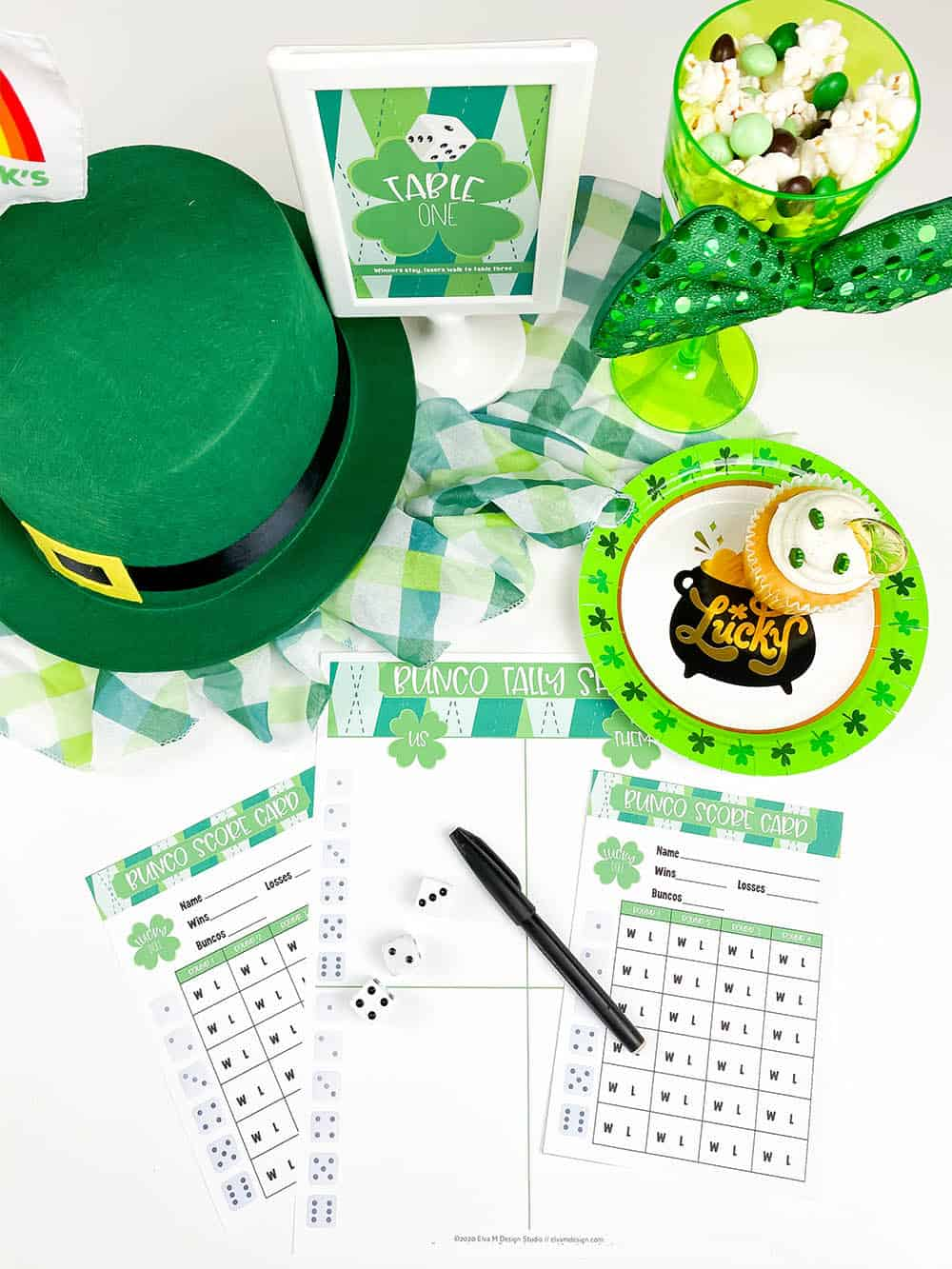 St. Patrick's Day Bunco Printables