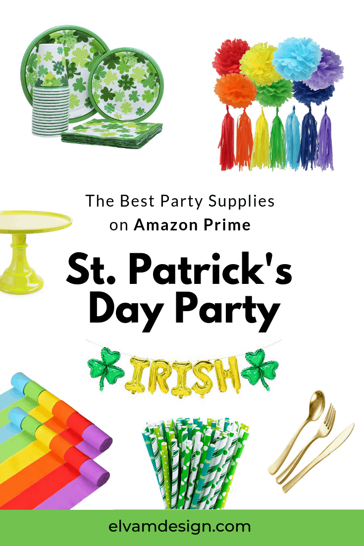 Find the best St. Patrick's Day party supplies on Amazon Prime