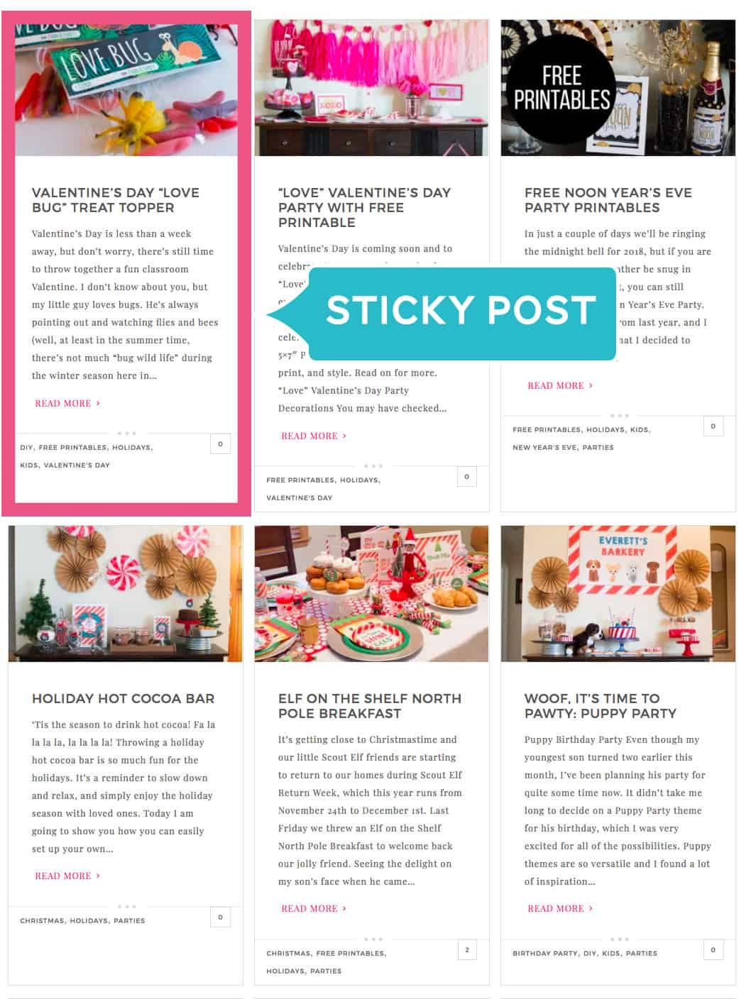 Repurpose your content with sticky posts