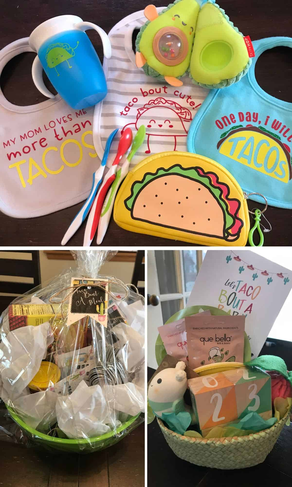 Baby Shower Gifts in Taco Theme