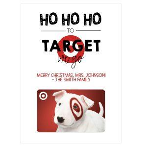 target christmas gift card holder