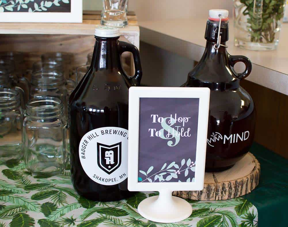 To Hope and To Hold beer bridal shower sign