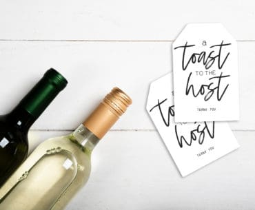 diy hostess gift tag for wine