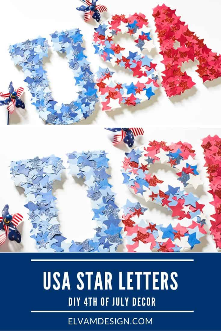Make these easy USA star letters