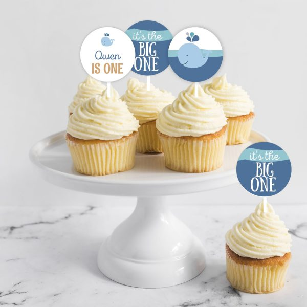 whale cupcake toppers