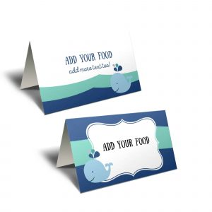 whale tent cards