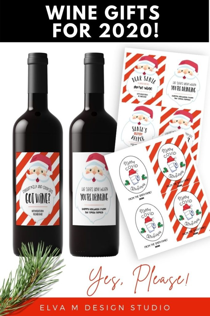 christmas wine labels for 2020