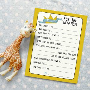 Where the Wild Things Are Advice for the New Mom Baby Shower Game